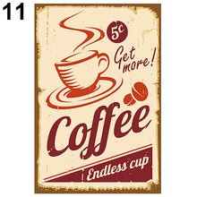 Load image into Gallery viewer, Vintage Metal Tin Coffee Sign Plaque Poster Bar Wall Pub Home Club Kitchen Decor