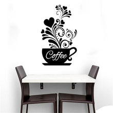 Load image into Gallery viewer, DIY Coffee Cup Decal Wall Decoration Removable Home Kitchen Art Mural Sticker
