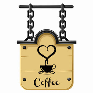 Removable DIY Kitchen Home Wall Art Sticker Decor Coffee Cup Heart Letter Decal