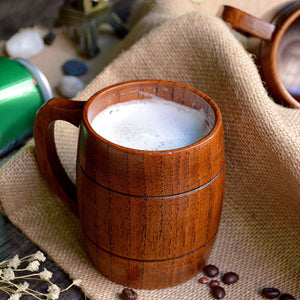 320ml Wooden Beer Tea Coffee Cup Water Heatproof Home Office Party Drinkware