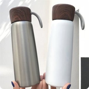 500ml Portable Vacuum Flask Outdoor Thermal Cup Tea Coffee Soup Water Bottle Mug