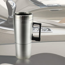 Load image into Gallery viewer, 12V/24V 450ml Auto Car Heating Cup Stainless Steel Electric Heated Water Mug