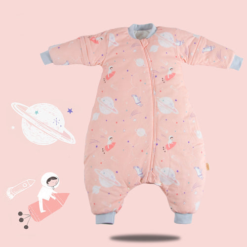 Muslin Tree Sleep Suit- Pink Planet 2.5 TOG