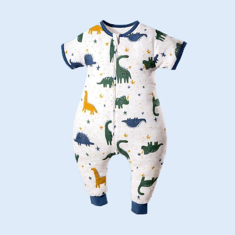 Muslin Tree Short Sleeve Sleep Suit- Dinosaur 0.2 TOG