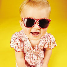 Load image into Gallery viewer, Frankie Ray Red Spot Minnie Gidget Baby Sunglasses - Bubify
