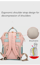 Load image into Gallery viewer, BEIKOU Diaper Backpack - Grey