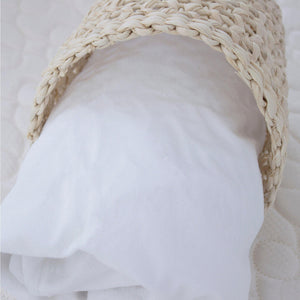 Bamboo White Cradle Waterproof Mattress Protector