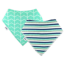 Load image into Gallery viewer, Bandana Bibs 2 Pack - Stripes