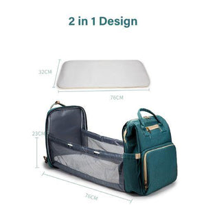 Bubify 2 in 1 Nappy Bag - Teal - Bubify