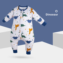 Load image into Gallery viewer, Muslin Tree Sleep Suit- Dinosaur 0.2 TOG