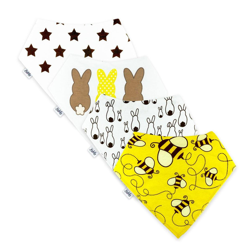 Bandana Bibs 4 Pack - Honey