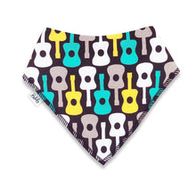 Load image into Gallery viewer, Bandana Bibs 2 Pack - Guitar