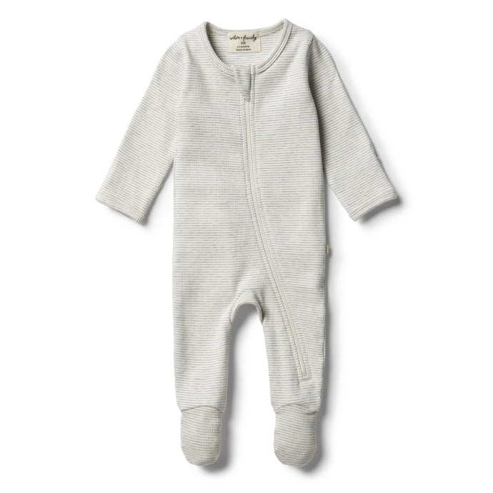 Organic Cloud Grey Zipsuit