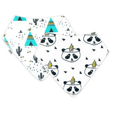 Load image into Gallery viewer, Bandana Bibs 2 Pack - Panda