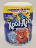 Kool Aid Sour Shockin' Blue Raspberry Powdered Drink Mix 538g Tub