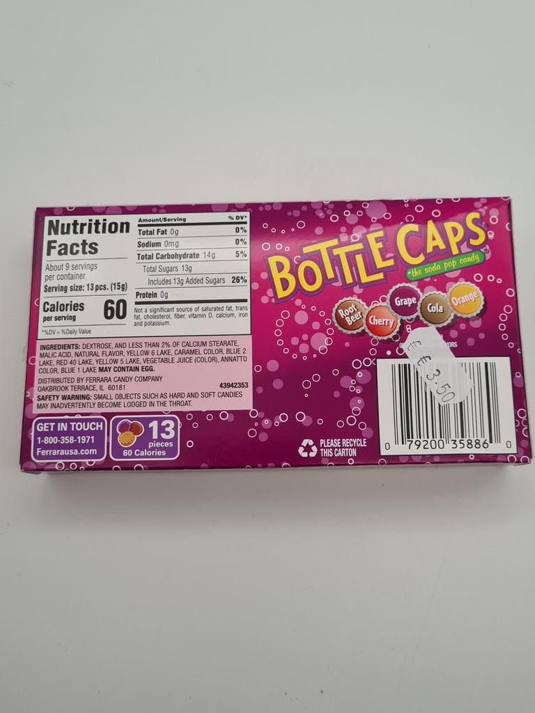 Bottle Caps Soda Pop Candy 141g