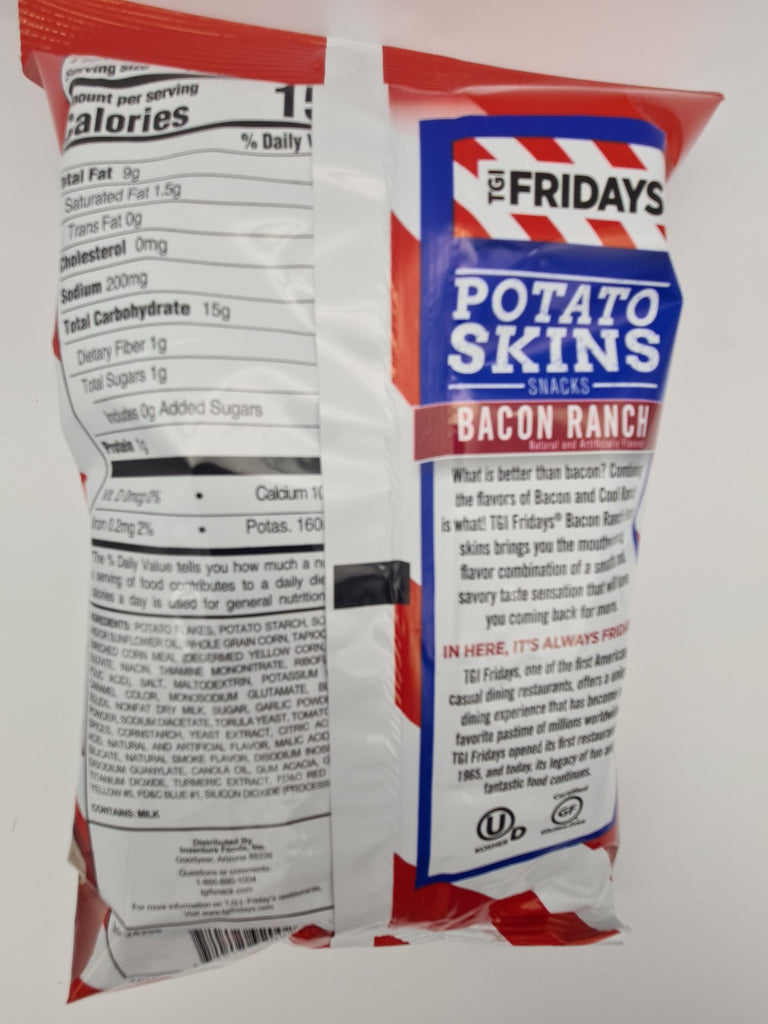 TGI Fridays Potato Skins Bacon Ranch Flavor 113g