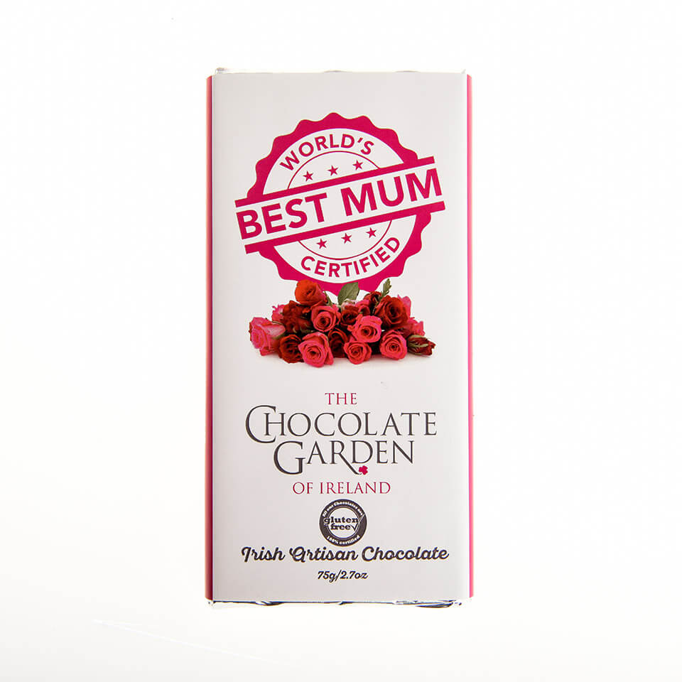 "The Chocolate Garden ""World's Best Mum"" 75g Milk Chocolate Bar"