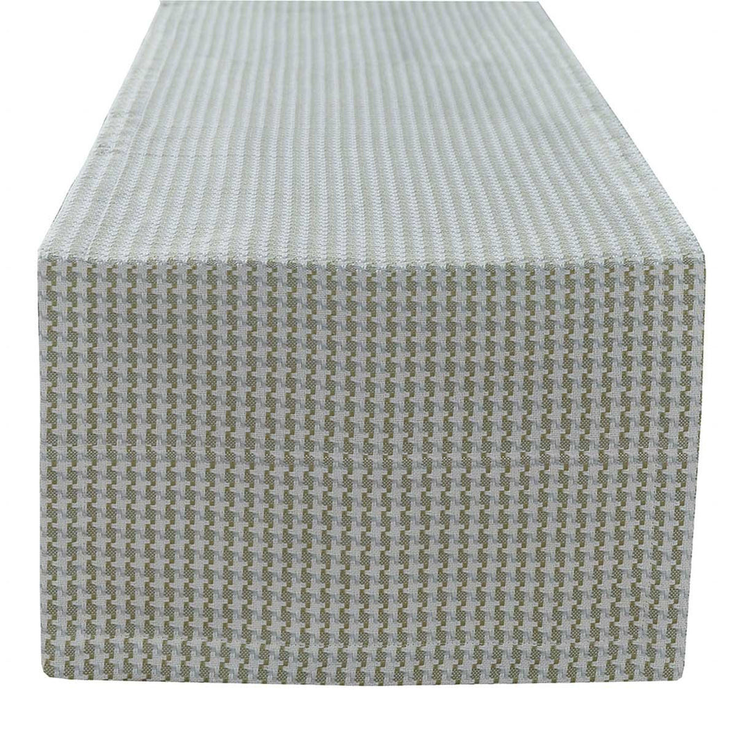 Houndstooth Blue/Green Table Runner