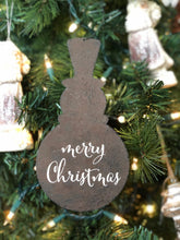 Load image into Gallery viewer, Rustic Metal Snowman Ornament