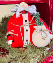 Load image into Gallery viewer, Plush Santa with Tree