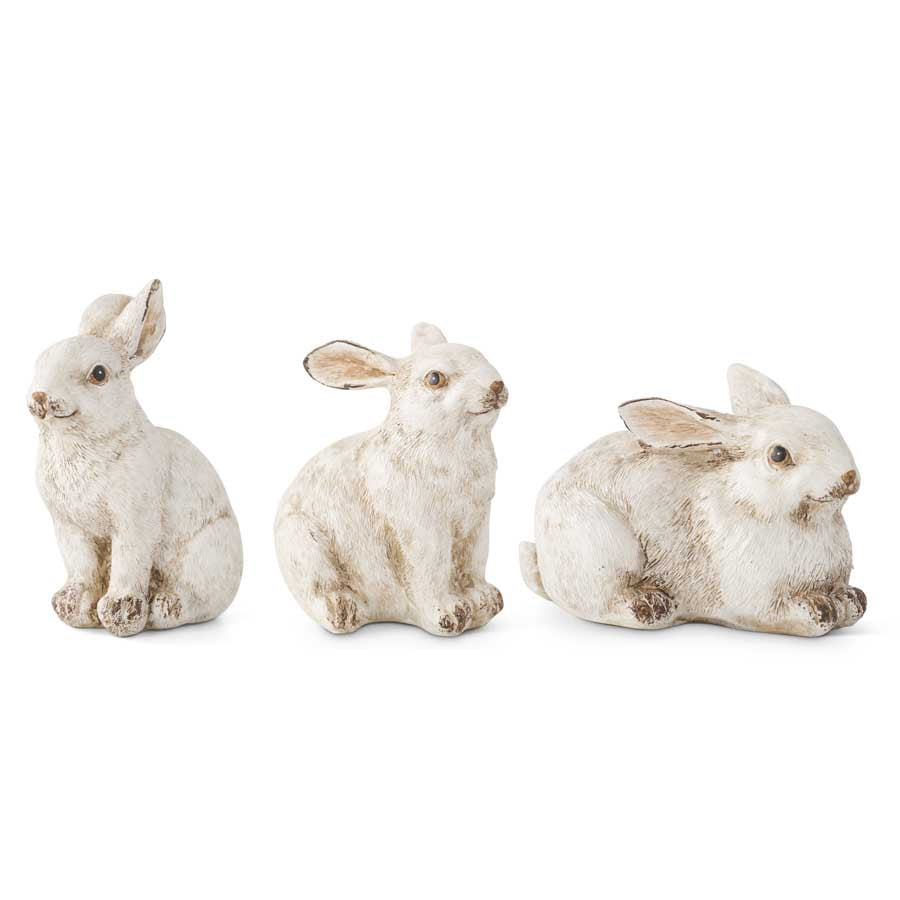 Assorted Small Gray Resin Bunnies (3 Styles)