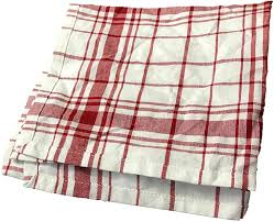 Red & White Plaid Dishtowel