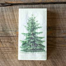 Fir Tree Guest Towel Dinner Napkin