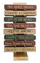 Load image into Gallery viewer, Assorted Wooden Holiday Signs