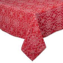 Load image into Gallery viewer, Joyful Snowflakes Jacquard Tablecloth