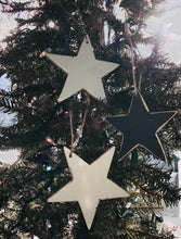 Load image into Gallery viewer, Medium Wooden Star Ornament, Pack of 3