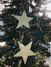 Load image into Gallery viewer, Large Wooden Star Ornament, Pack of 3