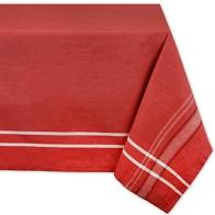 Tango Red French Chambray Tablecloth 60 x 84