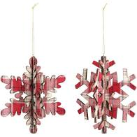 Load image into Gallery viewer, Plaid Flannel Snowflake Ornament