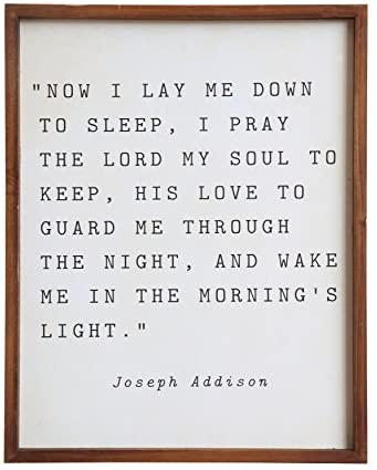 Bedtime Prayer Wall Decor