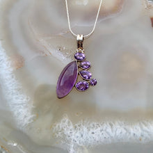 Load image into Gallery viewer, Destiny Silver Amethyst Necklace