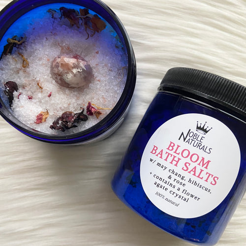 Bloom Bath Salts w/ Flower Agate Crystal