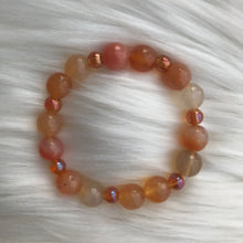Load image into Gallery viewer, Orange Aventurine & Champagne Bracelet