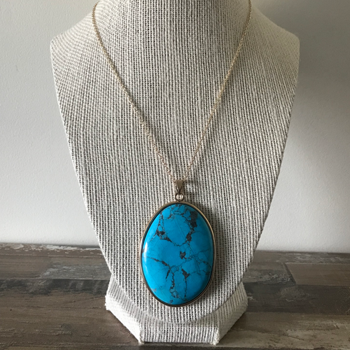 Blue Howlite Statement Necklace