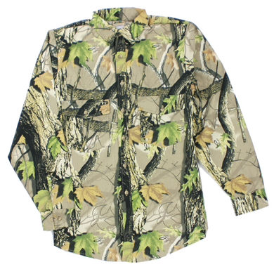 God's Country Camouflage Men's Long Sleeve Button Down Hunting Shirt