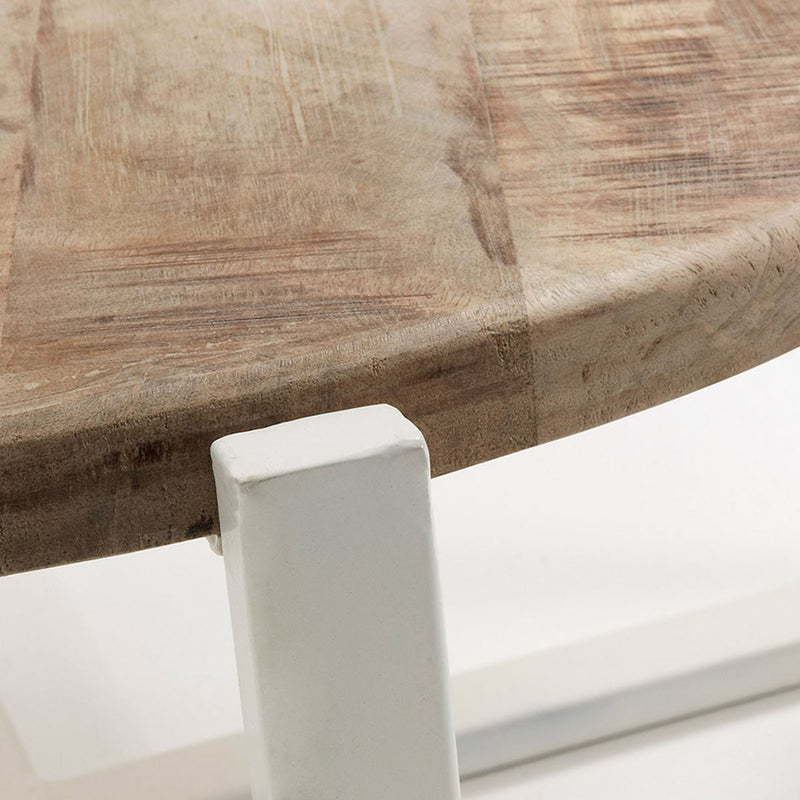 "Table Basse Design en Bois ""Petunia"" Naturel & Blanc 2"