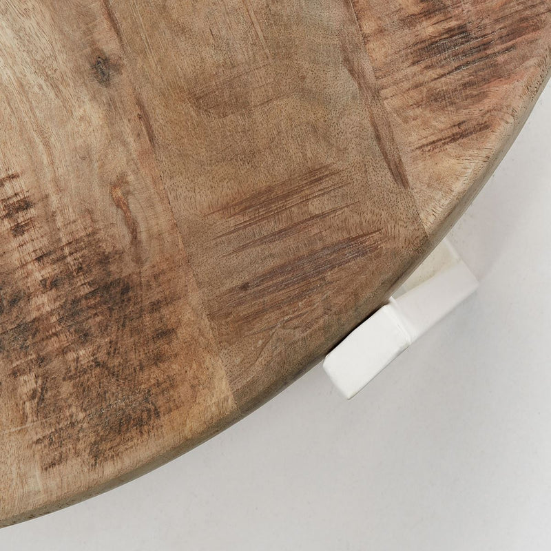 "Table Basse Design en Bois ""Petunia"" Naturel & Blanc 3"