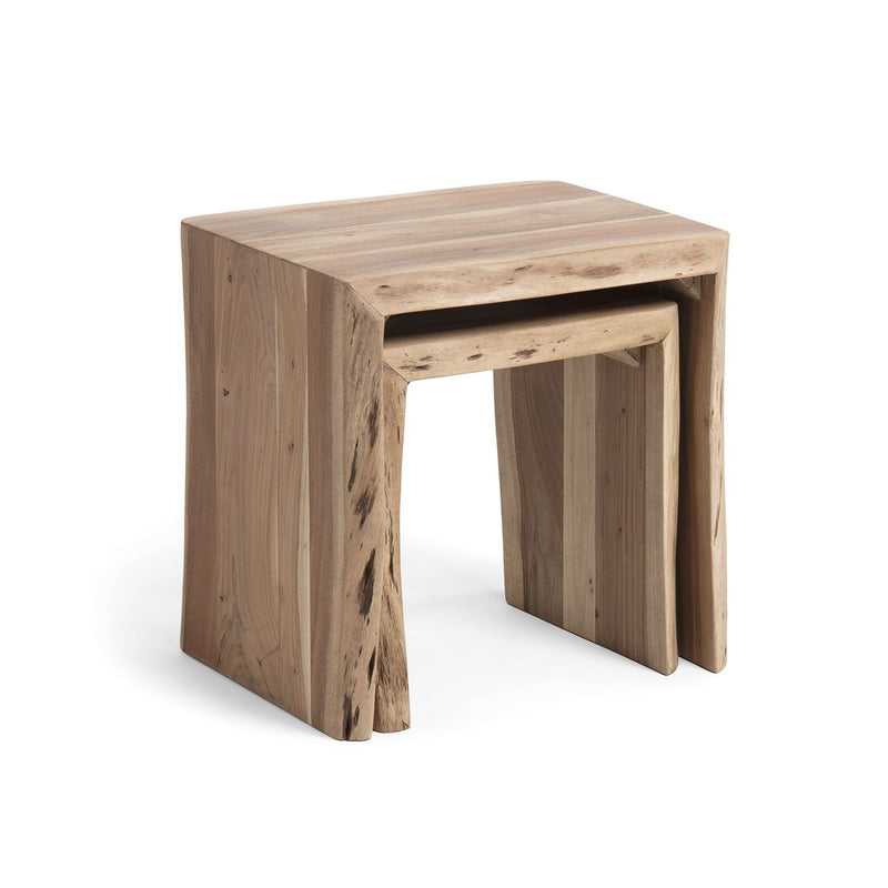 Tables gigognes en bois naturel par BeLoft.