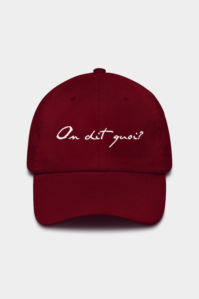 Burgundy Cotton Twill Dad Hat