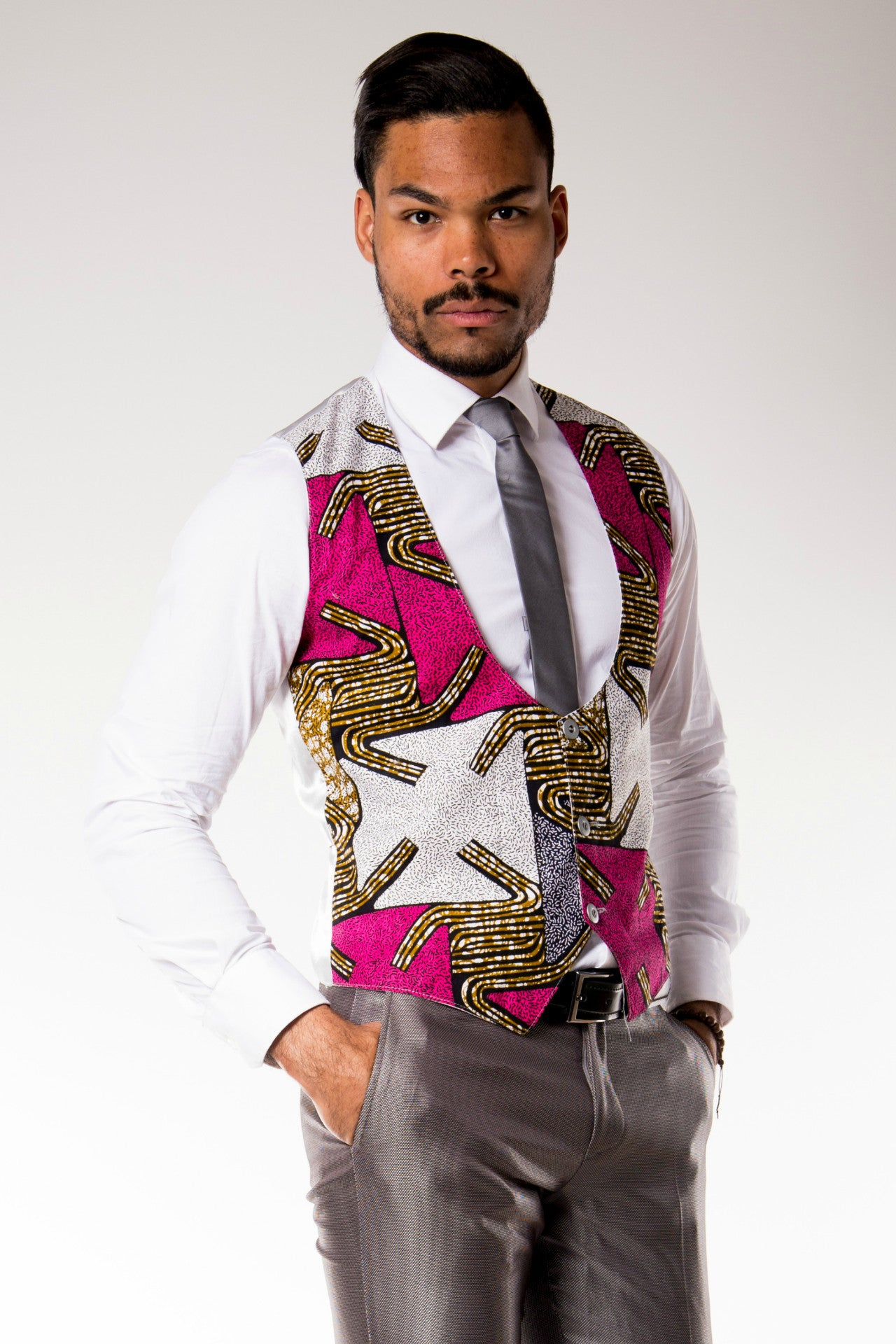 "Gilet Full Wax ""African Prince"""