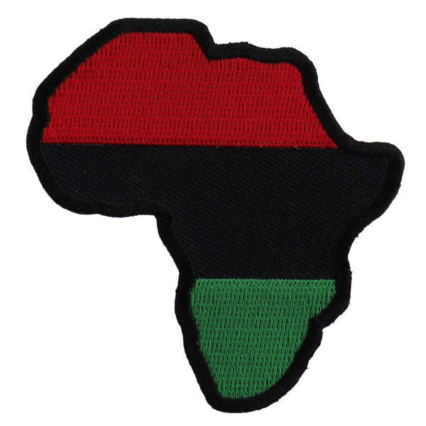 African Map Patch - Visibly Black