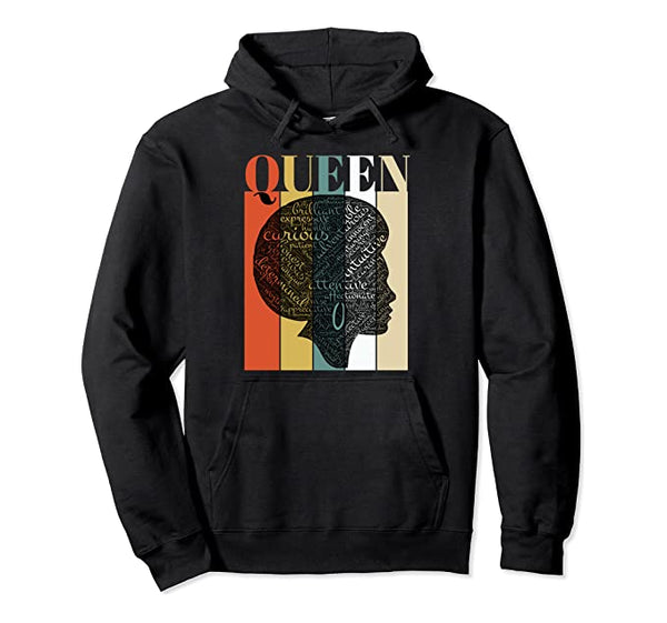 Afro Queen Hoodie - Visibly Black