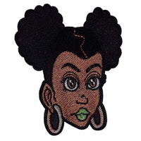 Afro Girl Patch - Visibly Black