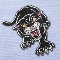 Angry Panther Patch - Visibly Black