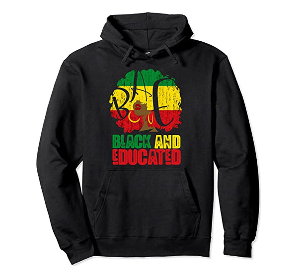 Black and Educated Hoodie - Visibly Black